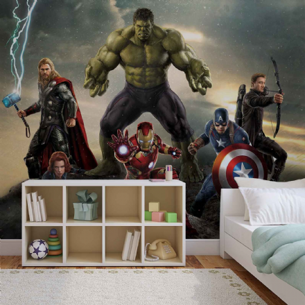 Marvel Avengers wall mural wallpapers GIANT